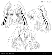 Lily Concept Art Heads 1