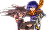 Tatsurou and Yukikaze holding hands