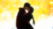 Nozomu and Shiori kiss