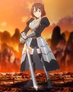 Aki's knight cosplay
