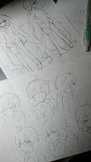Pochi Edoya Nemurin Sketches