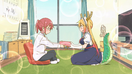 Ep1 Kobayashi giving Tohru a gift