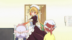 Ep3 Tohru tries on Kobayashi's maid uniform