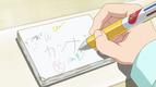 S1E4 Kobayashi writing Kanna's name