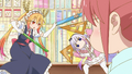 S1E4 Kanna and Tohru duel with rules