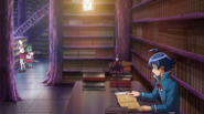Iruma in the library