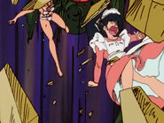 Dirty Pair episode 5 (Kyoko and her apron, words on the headdress 'Maison Ikkoku')