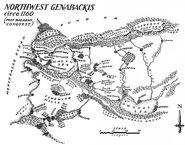 Map Northwest Genabackis