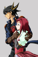 Yusei y Akiza