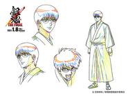 Gintama THE FINAL sketch di Shimura Shinpachi