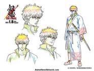 Gintama THE FINAL sketch di Sakata Gintoki