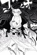 Kamado Nezuko si trasforma completamente in demone