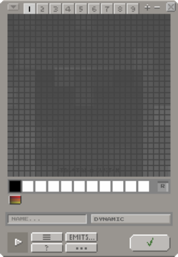 The Creation Editor set to the Dynamic type with the grid shown.