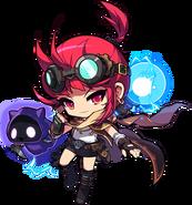 ClassArtwork Battle Mage (Black Heaven, Female)