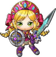 ClassArtwork Warrior (Maple Island Revamp, Female)