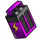 Battery purple