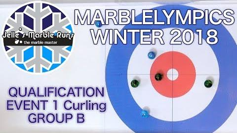 Winter MarbleLympics 2018 Qualification Event 1 Curling Group B