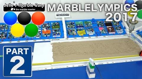 Marble Race- MarbleLympics 2017 event 2, Long Jump