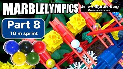 Marble Race- Marble Olympic Games (part 8, 10 meter sprint)