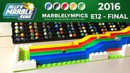 Marble Race Marblelympics 2016 FINAL Event 12 - Hurdles