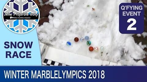 Snow Marble Race- Winter MarbleLympics 2018 Qualification- Event 2- Snow Marble Race
