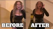 Mariah Carey shares an outtake from her infamous Bottle Cap Challenge video in 2019