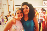 Marina at a dance competition at age 14