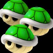 Triple Caparazón Verde
