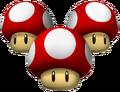 Triple Mushrooms Artwork - Mario Kart Wii