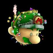 SMG2 Artwork Raumschiff Mario