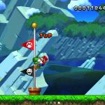 NSMBU Screenshot Zielpfahl