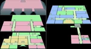Karte der Villa bei Drücken der X-Taste