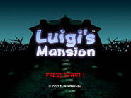 Luigi's Mansion - Title Screen
