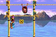 DKC3GBA Screenshot Kriechende Klasps 3
