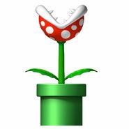 NSMB Artwork Piranha-Pflanze