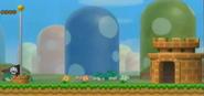 NSMBW Screenshot Zielpfahl
