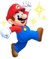 NSMB2 Artwork Mario