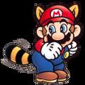 SMB3 Artwork Waschbär-Mario