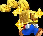 NSMB2 Artwork Gold-Block-Mario