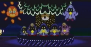 The Shamans during the parade in Paper Mario.