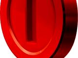 Rote Münze