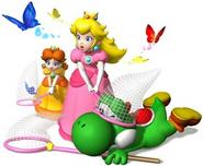 Peach, Daisy y Yoshi