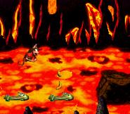 DKC2 Screenshot Lava-Samba 5