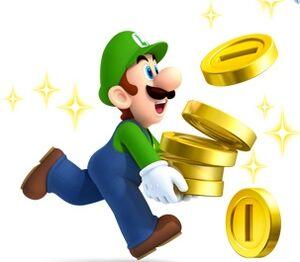 NSMB2 Artwork Luigi