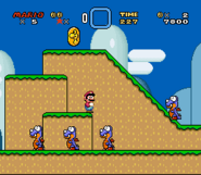 SMW Screenshot Yoshis Eiland 1