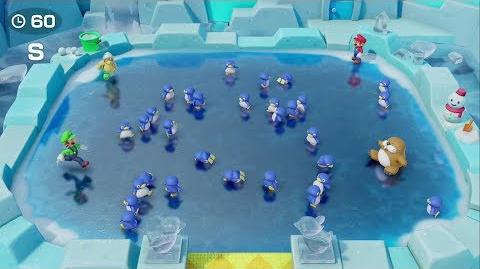 Super Mario Party - Penguin Pushers