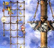 DKC2 Screenshot Schlotter-Mast 2