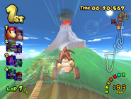 DK Mountain - Fired Cannon - Double Dash!!