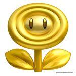 NSMB2 Artwork Goldene Blume