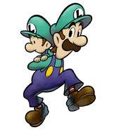 M&L2 Artwork Luigi und Baby Luigi